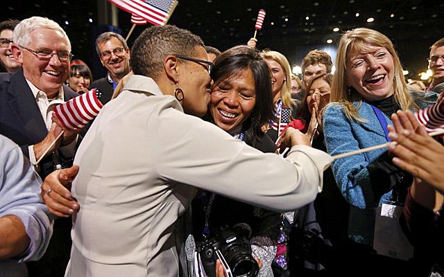Keesha propone matrimonio a su novia Rowan en Maryland. | Reuters