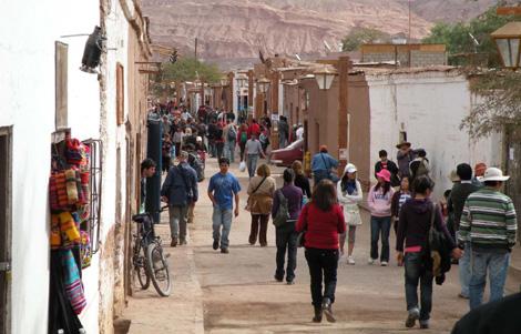 El pueblo San Pedro de Atacama.   Turismo Chile
