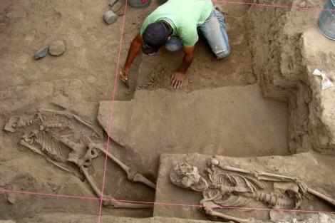 Imagen del Instituto de Antropología e Historia del hallazgo del cementerio.   Efe