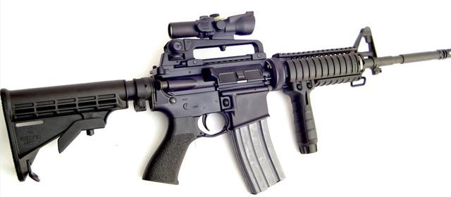 Imagen de un fusil Bushmaster AR-15.