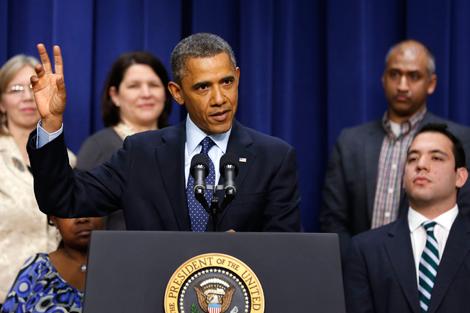 El presidente Obama explica el estado de las negociaciones sobre el abismo fiscal. | Reuters