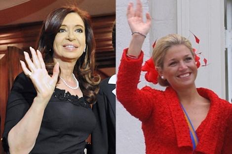 Cristina Kirchner y Máxima Zorreguieta. | Fotos: Archivo