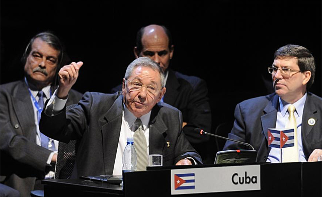 Raúl Castro en la Celac. | Afp