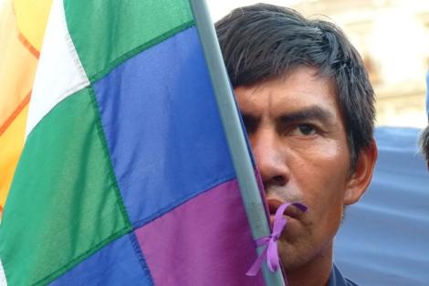 Un miembro de la Comunidad Qom.| Colectivo Resistencia Qom