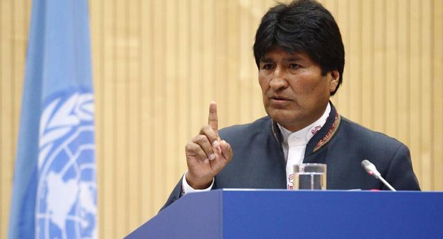 El presidente de Bolivia, Evo Morales, durante su comparecencia en Viena. | Reuters