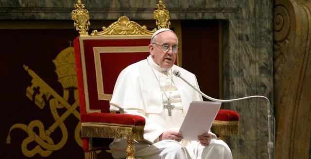 El Papa Francisco se dirige a los fieles.| Osservatore Romano