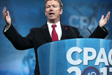 Rand Paul, días atrás, en la conferencia política de su partido. | Afp