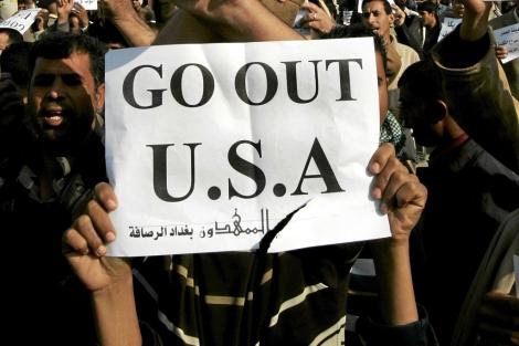 Protesta en Irak contra la visita del presidente George W. Bush en 2008. | E. M.