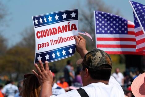 Manifestantes piden en Washington días atrás la reforma migratoria. | Efe