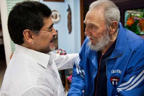 Maradona y Fidel Castro este fin de semana.| Efe
