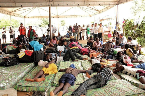 Grupo de inmigrantes ilegales haitianos  Efe