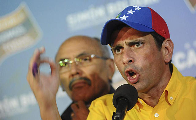 Henrique Capriles tras conocer los primeros resultados. | Foto: Efe
