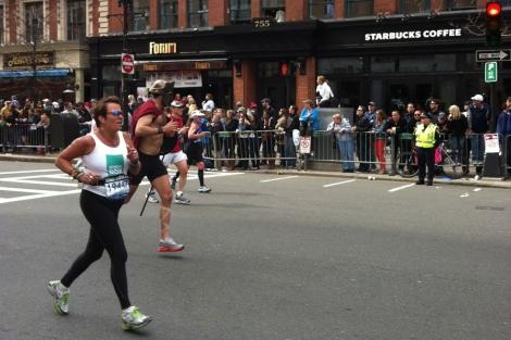 Imagen del maratón de Boston