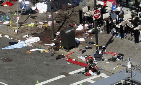 Lugar de la segunda explosión tras el atentado. | Reuters