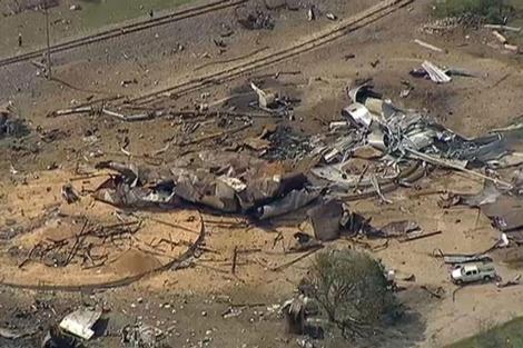 Imagen aérea de los daños causados por la explosión. | Reuters