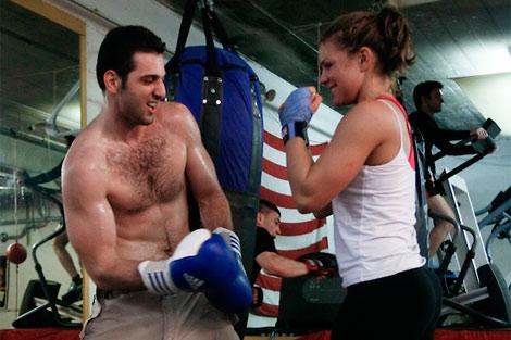 Imagen del sospechoso practicando boxeo