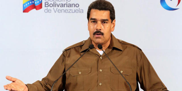 Nicolás Maduro durante la presentación de su gabinete de Gobierno.   Efe