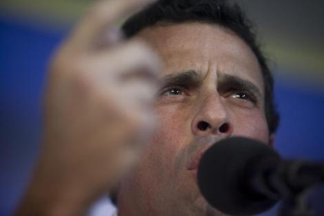 Henrique Capriles en la comparecencia de prensa de este miércoles. | Efe