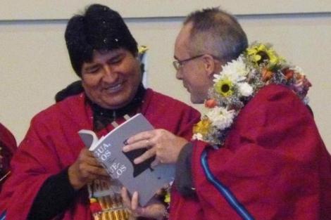 Evo Morales y el embajador español en Bolivia, Ángel Vázquez |Efe
