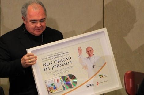 El arzobispo de Río, Dom Orani Tempesta, durante la presentación del viaje del Papa en Brasil. | Efe
