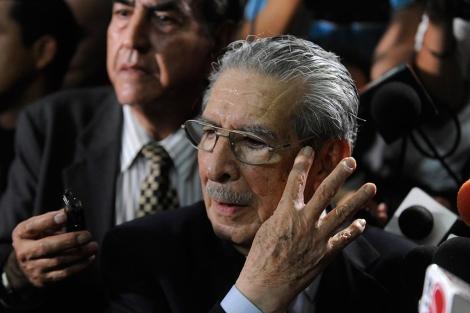 El ex dictador de 86 años, tras conocer la sentencia.| Afp
