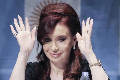Cristina Fernández, en uno de sus últimos actos públicos de esta semana.   Efe