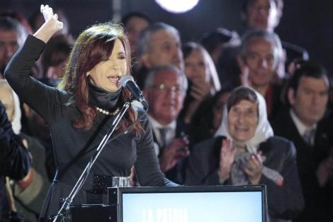 Cristina de Kirchner en la celebración de los 10 años del Kirchnerismo | Efe