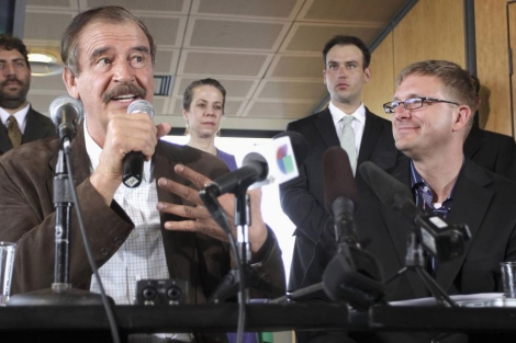 El ex presidente de México Vicente Fox apoya el proyecto de Jamen Shively.   Reutesr