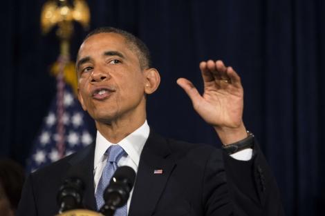 El presidente de EEUU, Barack Obama, durante su discurso. | Afp