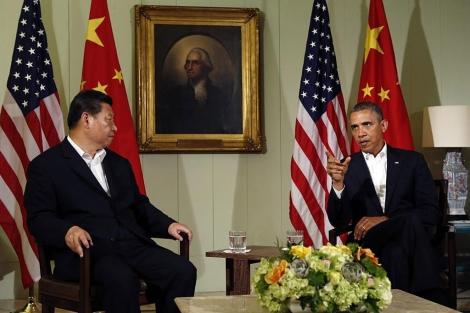 Xi Jinping y Obama, durante su primera reunión.   Reuters