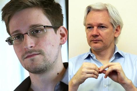 Edward Snowden y Julian Assange| Reuters | Afp