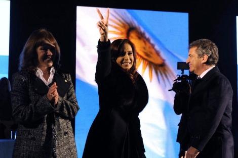Cristina Fernández de Kirchner, en un acto electoral. | Efe