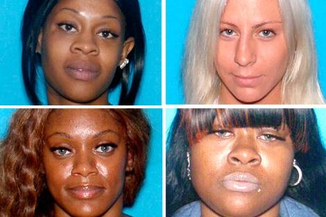 La cuatro sospechosas: Keshia, Ryan, Subhanna y Johnnina.