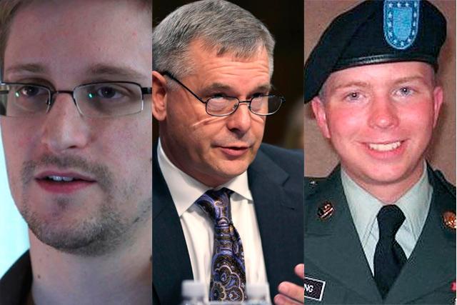 Snowden, Cartwright y Manning, acusados de revelación de secretos.