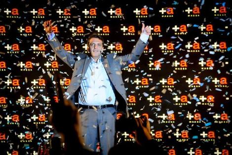 Sergio Massa, en el acto de presentación de anoche.