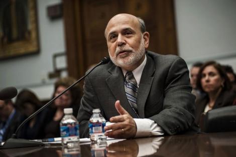 El presidente de la FED, Bernanke, durante su comparecencia.| Reuters