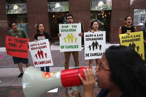 Manifestación en Nueva York en contra de las deportaciones de indocumentados. | Afp