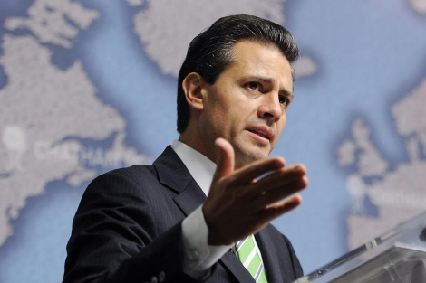 Enrique Peña Nieto durante su discurso | Efe