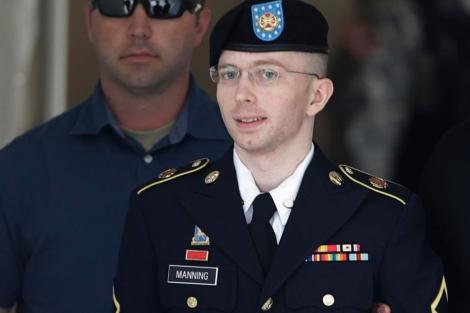 El soldado Manning, en una de las sesiones del juicio. | Reuters
