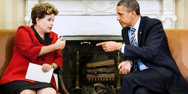 Barack Obama y Dilma Rousselff en una reunión en abril de 2012. | Afp