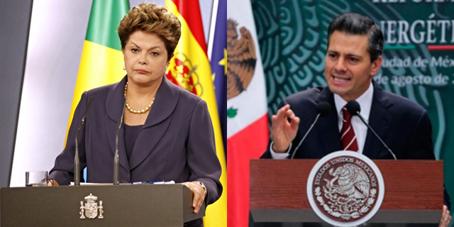 Dilma Rousseff, Presidenta de Brasil y Enrique Peña Nieto, Presidente de México | Efe/El Mundo