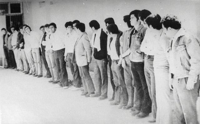 Detenidos en un campo de prisioneros a comienzos de los años 70.| Amnistía Internacional