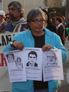 Lelia Pérez, hoy, reivindicando la memoria de los desaparecidos. | AI