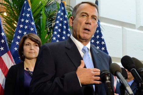 Boehner, durante un discurso en el Capitolio. | Efe