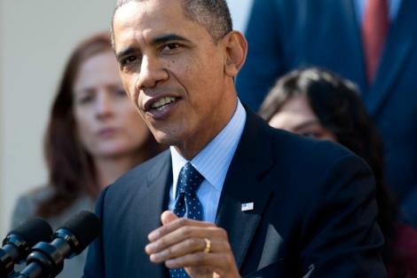 El presidente de EEUU, Barack Obama, durante su discurso.   Afp