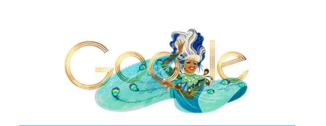 El doodle de Google dedicado a Celia Cruz.