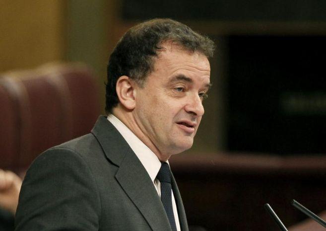 El portavoz parlamentario de ERC, Alfred Bosch, en el Congreso.