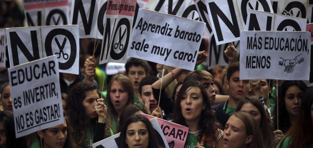 Manifestación en Madrid contra la nueva ley educativa. | Reuters