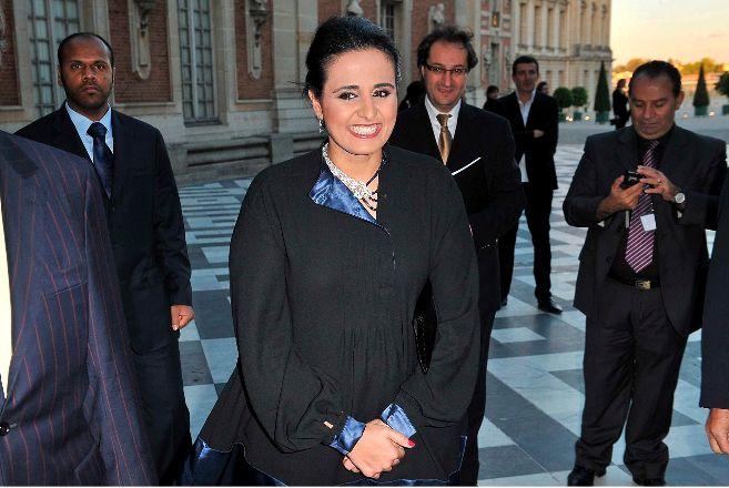 La jequesa catarí Al Mayassa bint Hamad bin Khalifa Al-Thani, la más...