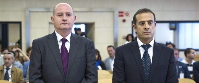 Los condenados por el 'caso Faisán', Enrique Pamiés (izda.) y José...